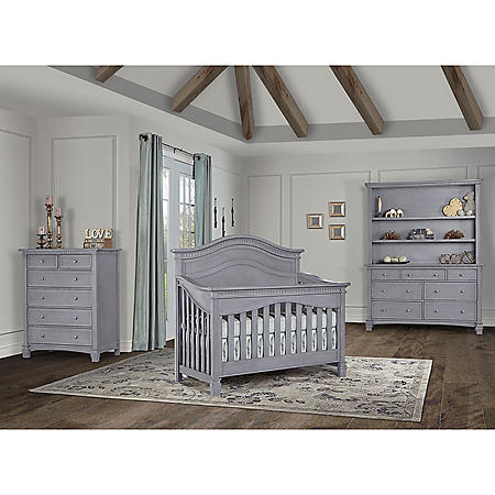 Evolur Cheyenne 5-in-1 Convertible Crib (Choose Your Color)