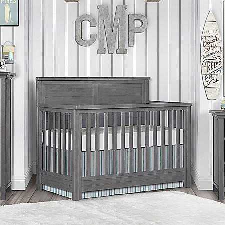 Evolur Belmar Flat Top 5-in-1 Convertible Crib (Choose Your Color)