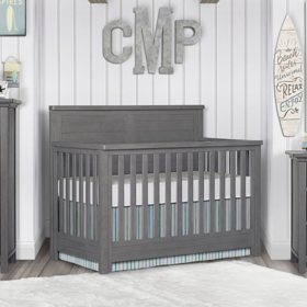 Evolur Belmar Flat Top 5-in-1 Convertible Crib (Choose Your Color)