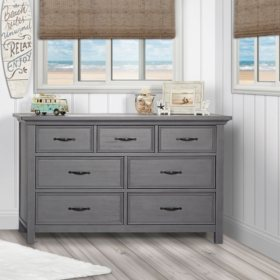 Evolur Belmar 7-Drawer Double Dresser (Choose Your Color)
