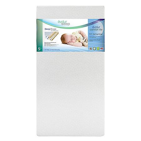 "Evolur Sleep Silver Star Breathable Dual Stage Comfort-Lite 5"" Foam Crib Mattress"
