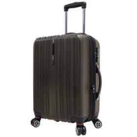 "Traveler's Choice 21"" Tasmania Spinner Luggage - Dark Brown"