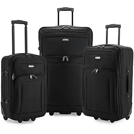 Elite Luggage Gondola 3-Piece Softside Rolling Luggage