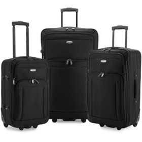 Elite Luggage Gondola 3-Piece Softside Rolling Luggage