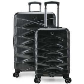 Traveler's Choice Granville 2-Piece Hardside Spinner Luggage Set, Charcoal