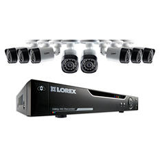 Lorex 8-Channel 1080p HD Surveillance System, 8 1080p Weatherproof Bullet Cameras with 130' Night Vision Cameras