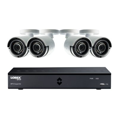 Lorex 8-Channel 4MP DVR Surveillance System with 1TB Hard Drive, 4-Camera 4MP Indoor/Outdoor Cameras with Color Enhanced Night Vision