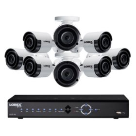 Lorex 8-Channel 4K NVR Surveillance System with 2TB Hard Drive, 8-Camera 4K Outdoor Bullet Cameras