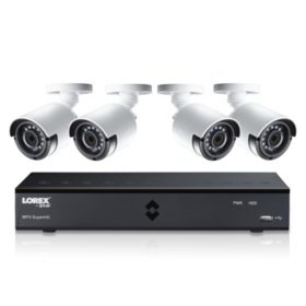 Lorex 4-Channel 4MP Super HD Security System with CNV, 1TB DVR, 4 Camera