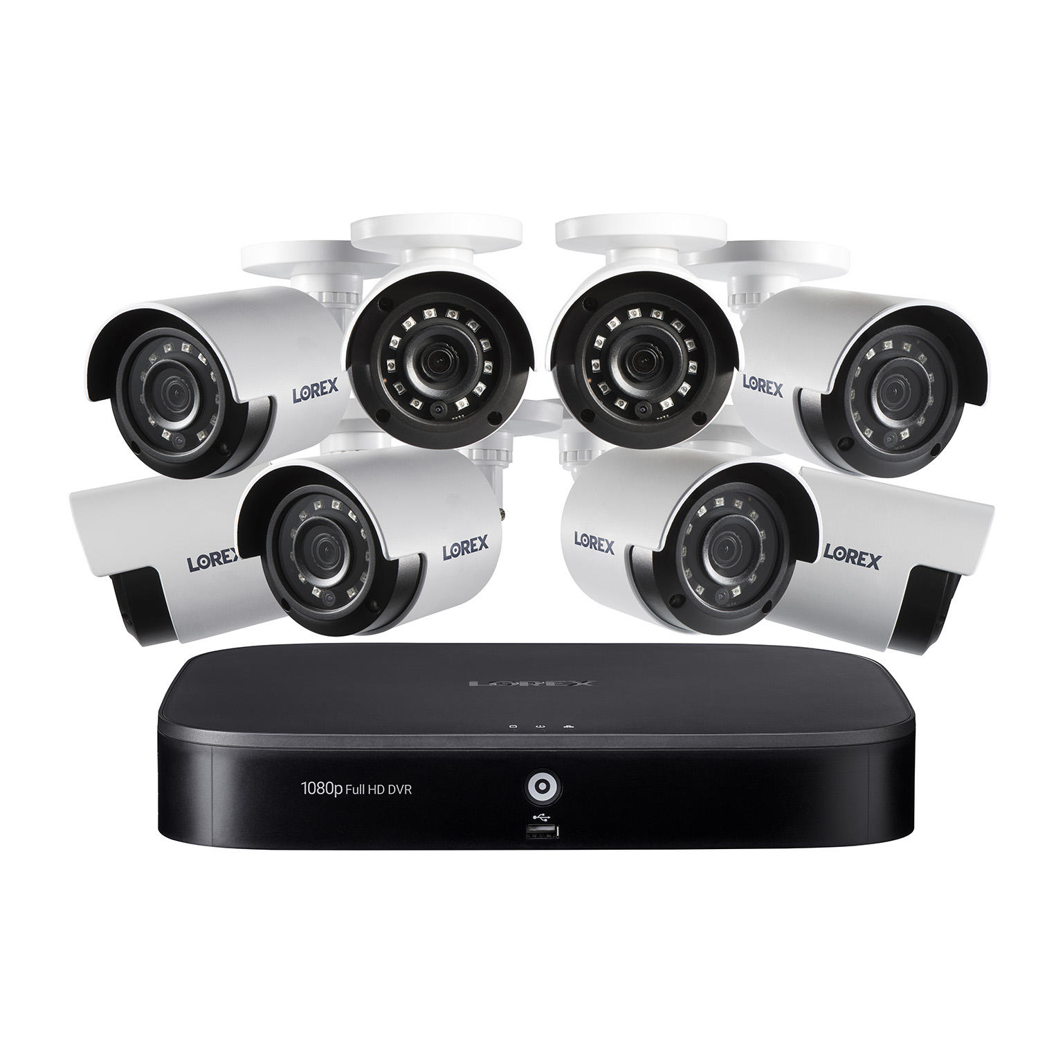 Lorex DP181-82NAE 8 Channel 1080P Surveillance System with 1TB HDD and 8 x Cameras