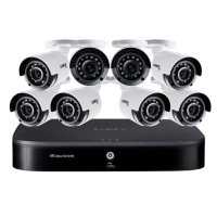 Lorex 16 Channel 4K DVR with 2TB HDD and 8 x 4K Cameras with Voice Control Features
