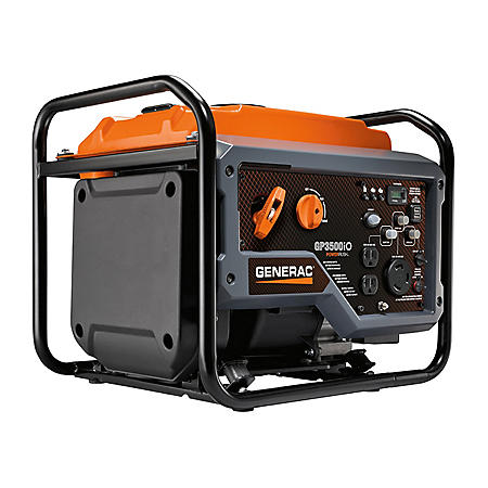 Generac GP3500iO 3,000W/3,500W Portable Inverter Generator, CARB Approved