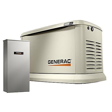 Generac Guardian Series WiFi-Enabled 20,000-Watt (LP) /18,000-Watt (NG) Standby Generator with Automatic Transfer Switch