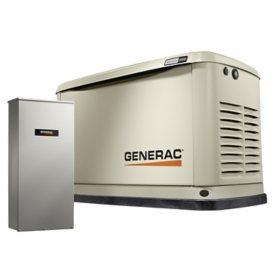 Generac Guardian Series Wi-Fi Enabled 22,000-Watt (LP) / 19,500-Watt (NG) Standby Generator with 10 year limited warranty