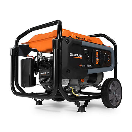 Generac GP3600 3,600W / 4,500W Portable Gas-Powered Generator