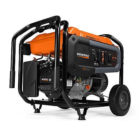 Generac GP6500 6,500W / 8,125W Portable Gas-Powered Generator