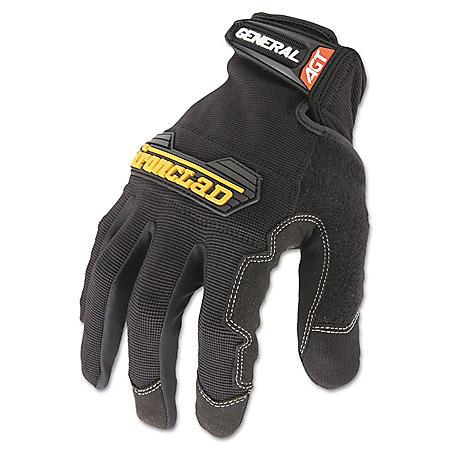 Ironclad General Utility Spandex Gloves, Black (Medium)