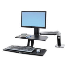 Ergotron WorkFit-A Sit-Stand Workstation with Suspended Keyboard  (for standard monitor)