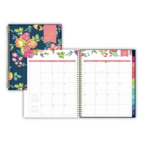 "Blue Sky Day Designer AY CYO Weekly/Monthly Planner, 11"" x 8 1/2"", Navy/Floral, 2019-2020"