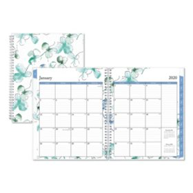 "Blue Sky Lindley Weekly/Monthly Wirebound Planner, 11"" x 8.5"", White/Blue, 2020"