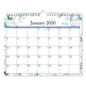 "Blue Sky Lindley Wirebound Wall Calendar, 11"" x 8 3/4"", 2020"