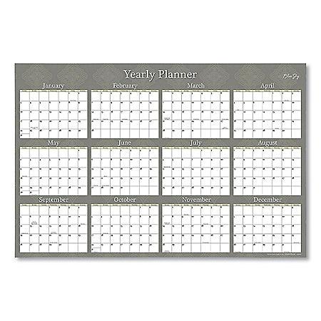 Blue Sky Adrianna Laminated Calendar, 36 x 24, Taupe, 2021