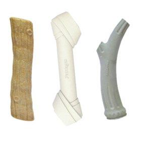 Petstages Ultimate Chew Dog Toy Bundle, Wood, Rawhide and Antler, Medium (3 pk.)