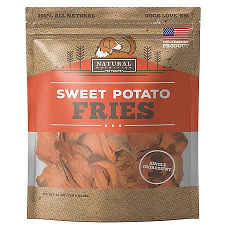 Natural Nutrition Sweet Potato Dog Treats, Single Ingredient, 12 oz., 2 pk. (Choose Fries or Chews)