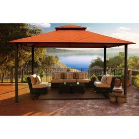 Savannah 11' x 14' Soft Top Gazebo with Rust Sunbrella Canopy