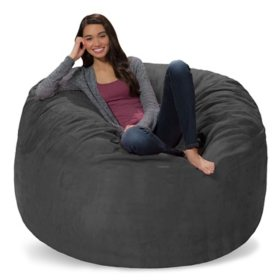 Comfy Sacks 5' Memory Foam Bean Bag Chair, Assorted Colors