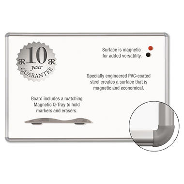 Best-Rite - Magne-Rite Magnetic Dry Erase Board - White/Silver - 36