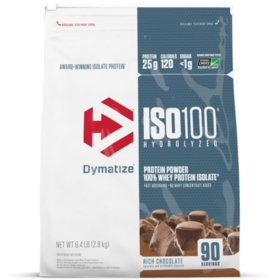 Dymatize ISO100 Hydrolyzed 100% Whey Protein Isolate Powder, Rich Chocolate (90 servings)
