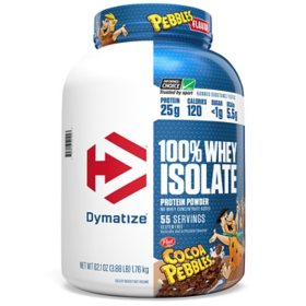 Dymatize 100% Whey Protein Isolate Powder, 25g Protein, Cocoa Pebbles (55 servings)