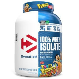 Dymatize 100% Whey Protein Isolate Powder, 25g Protein, Fruity Pebbles (55 servings)