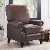 Abbyson Living Braxton Leather Pushback Recliner
