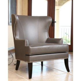 Peachy Tobi Leather Wingback Chair Sams Club Machost Co Dining Chair Design Ideas Machostcouk
