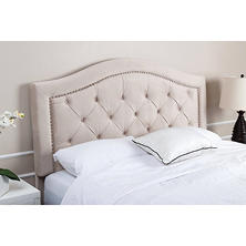 Sullivan Velvet Upholstered Headboard, Ivory (Assorted Sizes)
