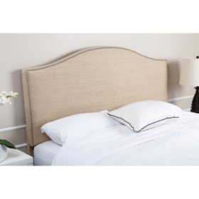 Alexis Wheat Linen Upholstered Headboard (Choose Size)