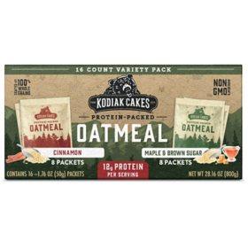 Kodiak Cakes Protein Packed Oatmeal, Variety Pack (1.76 oz., 16 pk.)