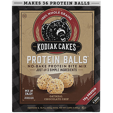 Kodiak Cakes Protein Balls, Oatmeal Chocolate Chip (12.7 oz., 3 pk.)