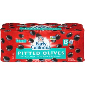 Early California Extra Large Black Pitted Olives (6 oz., 8 pk.)