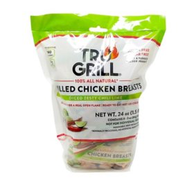 Tru Grill Diced Grilled Chili Lime Chicken Breast Single Servings (8 ct.)