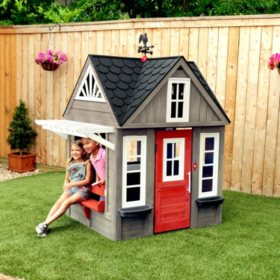 Kidkraft Stonewood Outdoor Playhouse Sams Club