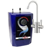 Ready Hot Hot Water Dispenser System - Includes Brushed Nickel Dual Lever Faucet
