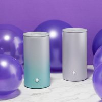 Zak Designs 12-oz. Gem Tumbler 2-Pack Set Stainless Steel Vacuum Insulated for Hot and Cold with Splash-Proof Slide Lid (Assorted Colors)
