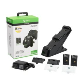 Energizer Xbox One Controller Charging Station with Rechargeable Battery Pack for Two Wireless Controllers