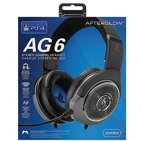 PDP Afterglow AG6 Wired Stereo Headset for PlayStation 4