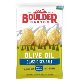 Boulder Canyon Olive Oil Kettle Cooked Chips (24 oz.)
