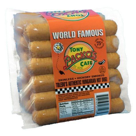Tony Packo's Cafe Skinless Hot Dog (3 pk., 1 lb.)