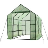 Deals on Ogrow Heavy-Duty Walk-In 2-Tier 12-Shelf Garden Greenhouse